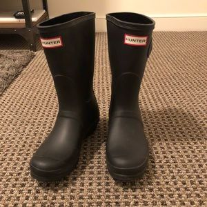 Hunter Original Refined Short Rain Boots size 8